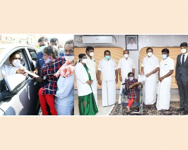 tamil nadu chief minister helping disabled