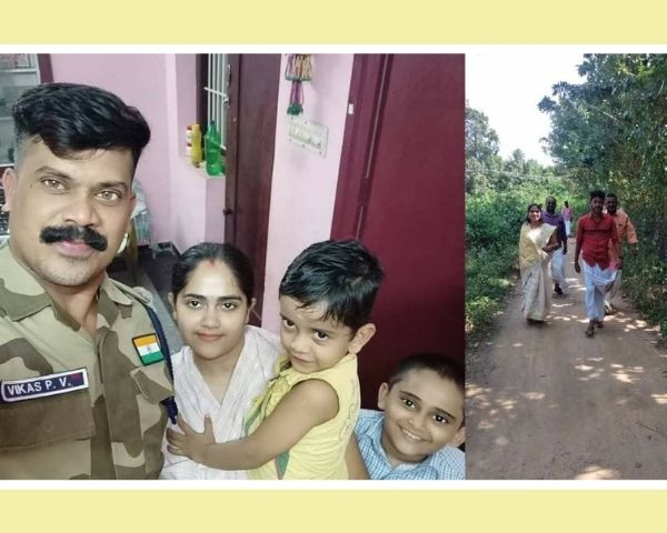 amputee jyothi with her family