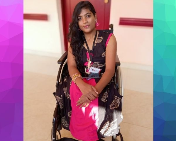 kanchan khot sitting on wheelchair