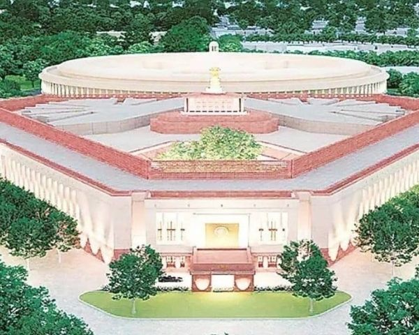 graphic image of new parliament building