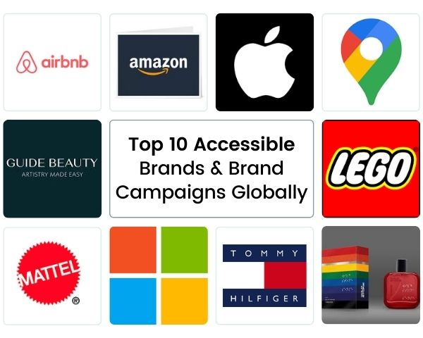 Logos of the 10 brands featured in the article