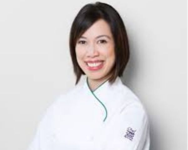Close up of blind cook Christine Ha