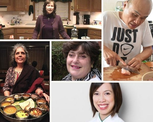 Images of the 5 cooks profiled in the article
