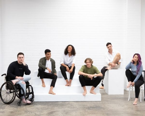 6 models with disabilities wearing clothes from JAM the Label