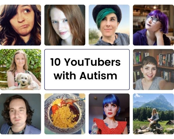 Images of the 10 YouTubers featured