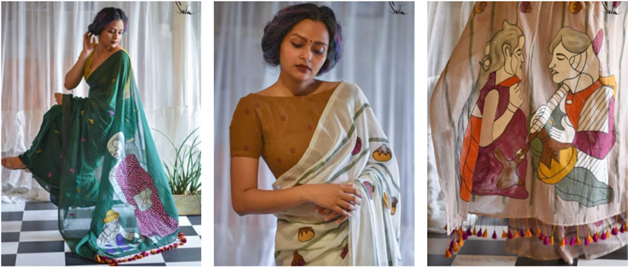 3 sarees designed by Amrit for Suta.