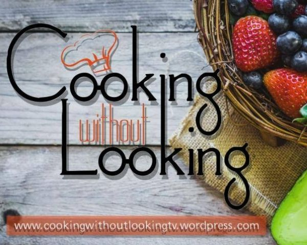 Images of fruits with the line Cooking Without Looking