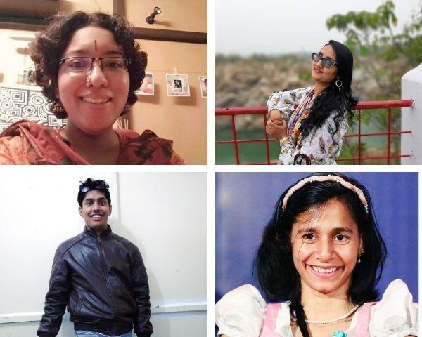 Images of Shloka Shankar, Lipy Lekha, Akshay Mathur and Anu Jain