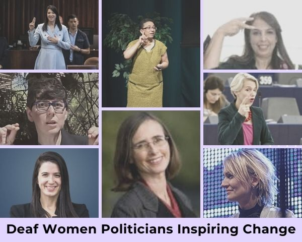 Images of the 8 deaf politicians featured