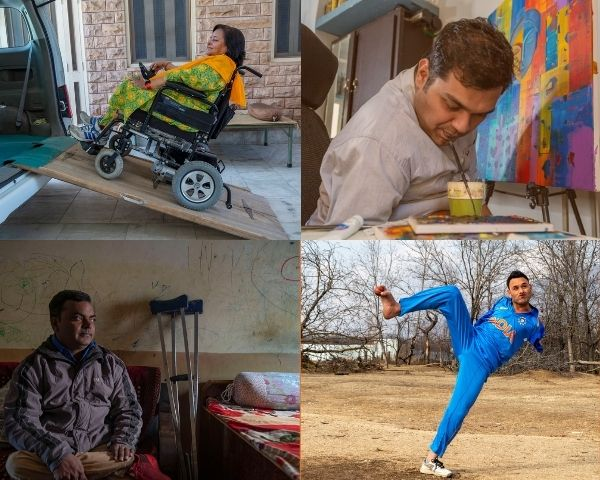 Images of 4 disabled people profiled in the EGS project