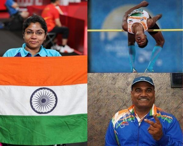 Images of Bhavinaben Patel, Nishad Kumar and Vinod Kumar