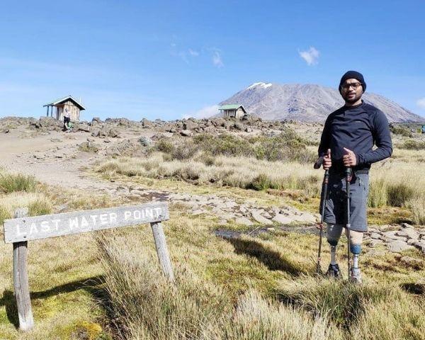 Chitrasen Sahu on a mountain top